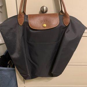 Grey medium Longchamp bag